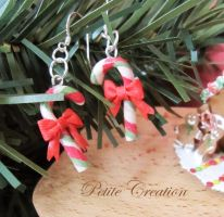 2010 candy cane earrings 3 by PetiteCreation