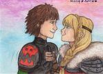 Hiccup and Astrid by Kirschpraline