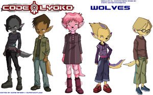Code Lyoko Wolves by SuperDigiFlow