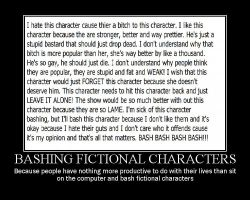 Anti Character bashing by sweetbean882013