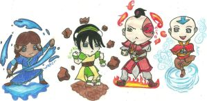 AvatarTLA: Chibi Elements by cherryjer
