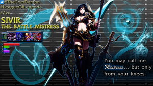 Sivir The Battle Mistress by palkia1208