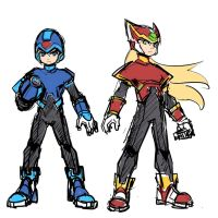 Sketch : Megaman and Zero by ManiacPaint