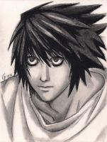 L Lawliet Death Note by paranoiaPRODIGY