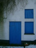 Blue Door and Windows by ToxicStocks