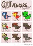 Cat Avengers, ASSEMBLE!! by SorceressRaven