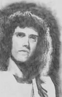 Brian May drawing by MarkieKnopflie