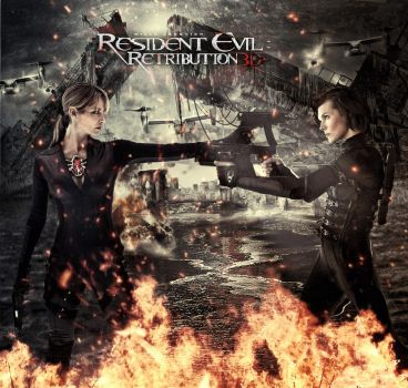 Resident Evil Retribution : Jill vs. Alice by tomzj1