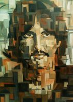 George Harrison Cubism by christhib