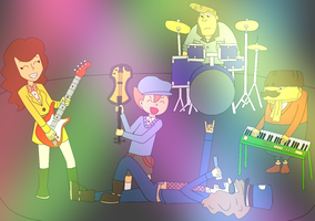 Sammy's band -coloured- by kenabe