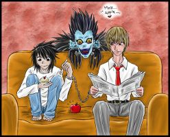 Death note... LxRaito by kira86