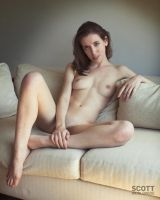 Melancholic Model- crappy couch by Scottworldwide