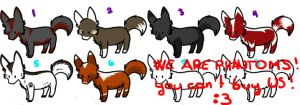 Wolf adoptables CLOSED! by GerraFox77