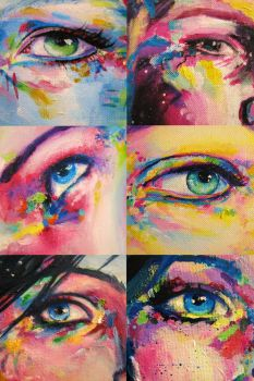 acrylic and oil eyes by sythesite