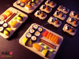 FiMO ~ Sushi miniatures by tivibi
