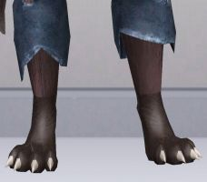Sims 3 Custom Wolf Feet by CamKitty2