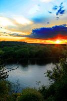 Sunset on the River by opticalripple