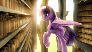 The Library of the Two Sisters by VibrantLight