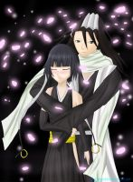 Request- Byakuya x Soifon by GlacyRoserade