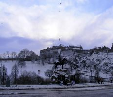 Edinburgh Castle in Winter by printsILike