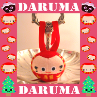 Daruma2 Christmas Ornament by Squisherific