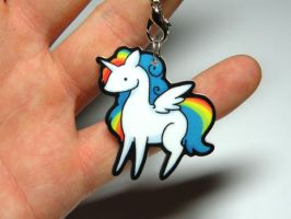 Unicorn / Alicorn charm by michellescribbles
