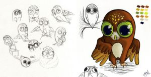 Color scheme - The Owl (Sova) by Mclawliet