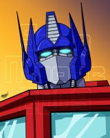 Commission - Optimus Prime by SeanRM