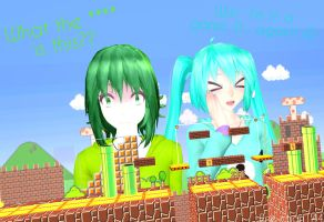 What the **** is this?? 2 - Gumi and Miku by Ene-chan144