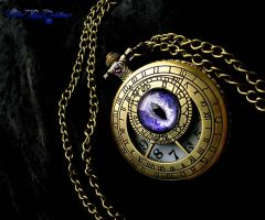Zodiac Deluxe - Dragon Eye Pocket Watch Timepiece by LadyPirotessa