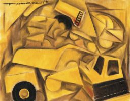 Tonka truck painting by TOMMERVIK