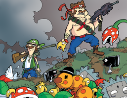 Mario Bros Go To War by MJRainwater