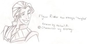 "Flynn Rider from ""Tangled"" by inspired-flower"