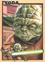 Yoda - Premier Sketch Card by J-Redd