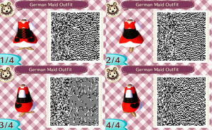 Animal Crossing QR Code - German Maid Outift by Necrophilliacness