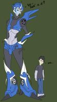 TFP Arcee and Jack by Transformergirl