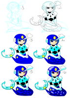 Splash Woman in 6 steps by Carol-aredesu