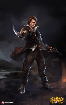 the pirate character design for seafight by popjordan