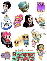 Adventure Time minis by Pasuteru-Usagi