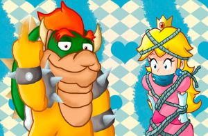 Bowser has kidnapped the princess... again by Jonashley
