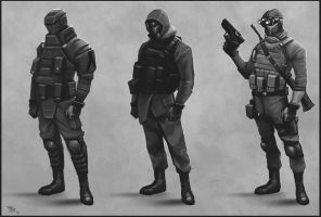 Soldier classes sketch by digitalinkrod