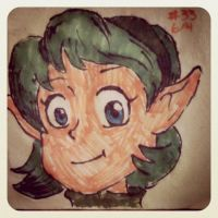 Napkin Art #33 - Saria the Forest Sage - LoZ by PeterParkerPA