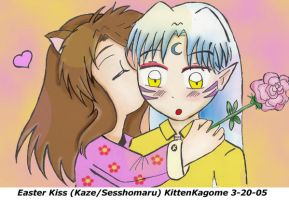 Easter  Kiss by KittenKagome