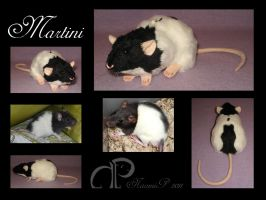 Custom Rat Plushie - Msrtini by Morumoto