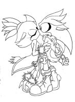 SilvAze lineart by Sweetness-Lover