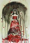 Alice Medness Returns/Watercolor by Marsellia