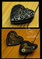 locket: heart two by TheClockworkCrow