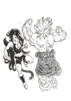 Mia vs Broly by bloodsplach