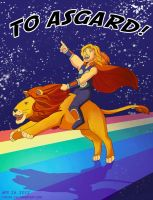 To Asgard by LauraDoodles