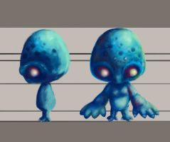 3d Processs Creature by earthwormnistic